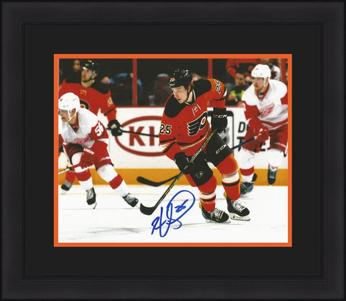 Ryan White Skating Philadelphia Flyers Autographed NHL Hockey Framed and Matted Photo - Dynasty Sports & Framing
