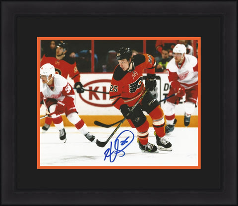 Ryan White Autographed Philadelphia Flyers Skate Framed and Matted Photo - Dynasty Sports & Framing