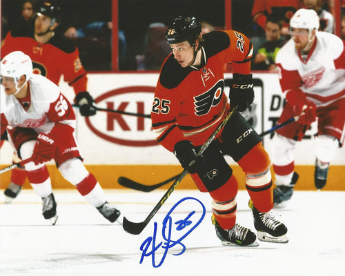 Ryan White Skating Philadelphia Flyers Autographed NHL Hockey Photo - Dynasty Sports & Framing