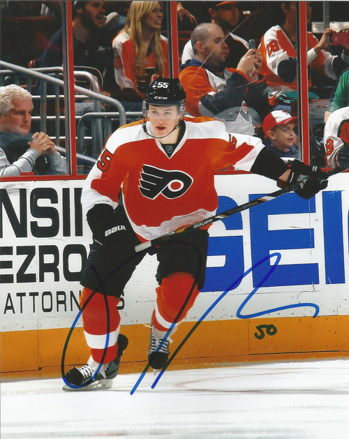 Philadelphia Flyers Samuel Morin Skating Autographed NHL Hockey Photo - Dynasty Sports & Framing