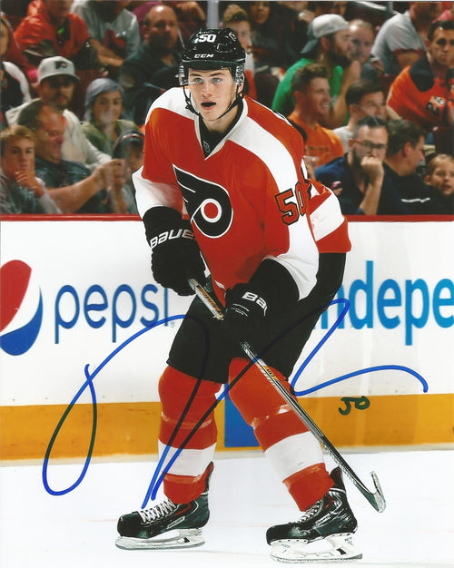 Philadelphia Flyers Samuel Morin On-Ice Autographed NHL Hockey Photo - Dynasty Sports & Framing