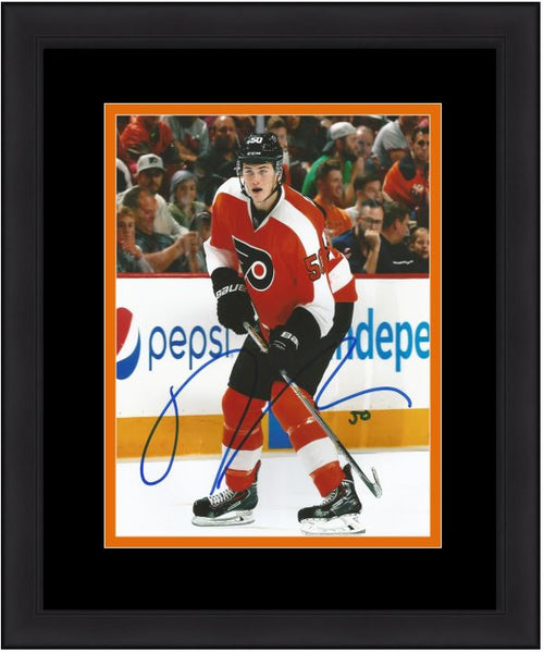 "Philadelphia Flyers Samuel Morin On-Ice Autographed NHL Hockey 11"" x 14"" Framed and Matted Photo - Dynasty Sports & Framing"