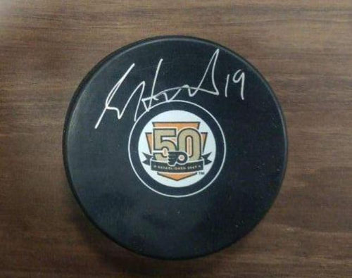 Scott Hartnell Autographed Philadelphia Flyers 50th Anniversary Logo Puck