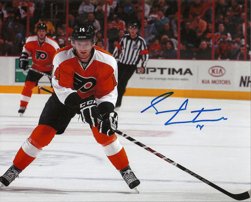Philadelphia Flyers Sean Couturier Autographed NHL Hockey Photo - Dynasty Sports & Framing
