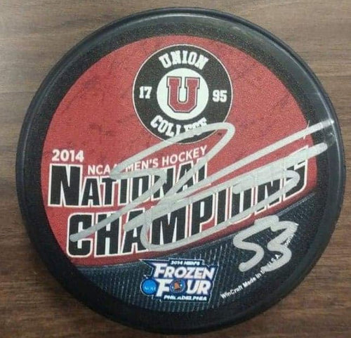 Philadelphia Flyers Shayne Gostisbehere Autographed NCAA College 2014 National Champions Puck