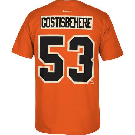 Philadelphia Flyers NHL Hockey Shayne Gostisbehere Name & Number T-Shirt (Alternate)