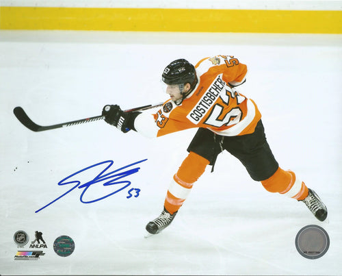 Shayne Gostisbehere Slapshot Philadelphia Flyers Autographed NHL Hockey Photo - Dynasty Sports & Framing