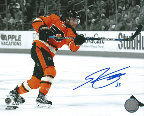 "Shayne Gostisbehere Philadelphia Flyers Autographed Spotlight 8"" x 10"" Photo - Dynasty Sports & Framing  - 1"