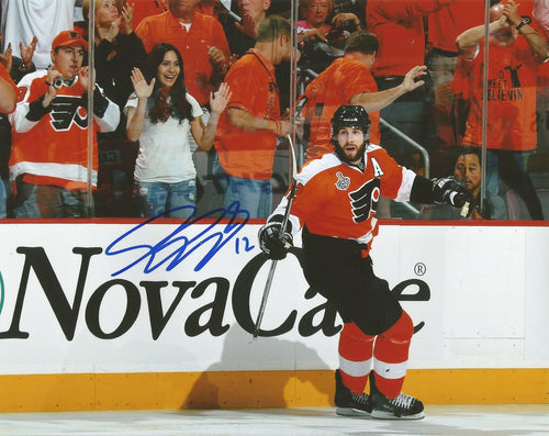 Philadelphia Flyers Simon Gagne 2010 Stanley Cup Finals Autographed NHL Hockey Photo - Dynasty Sports & Framing