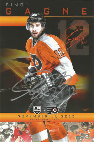 Simon Gagne Autographed Philadelphia Flyers Retirement Night Placard (Flyers Nation Exclusive) - Dynasty Sports & Framing  - 1