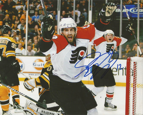 Simon Gagne Philadelphia Flyers Game 7 Game-Winning Goal v. Bruins Autographed Photo - Dynasty Sports & Framing