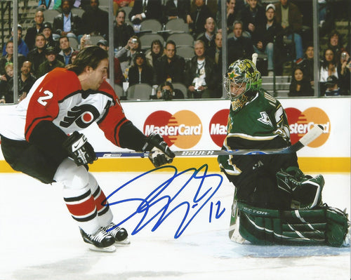 "Philadelphia Flyers Simon Gagne v. Stars Autographed NHL Hockey 11"" x 14"" Photo - Dynasty Sports & Framing"