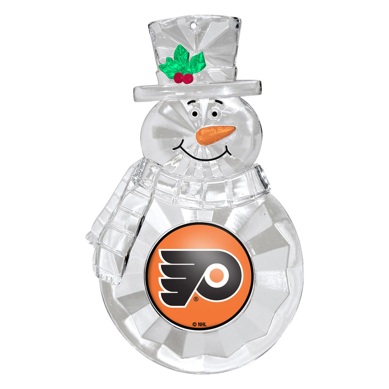 Philadelphia Flyers Snowman Holiday Ornament