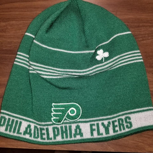 Philadelphia Flyers NHL Hockey St. Patrick's Day Reebok Knit Hat