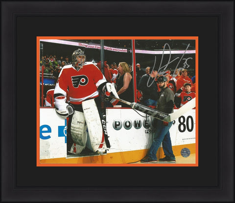 Steve Mason Autographed Philadelphia Flyers Entrance Framed & Matted Photo - Dynasty Sports & Framing