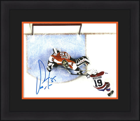 Steve Mason Autographed Philadelphia Flyers Overhead Framed & Matted Photo - Dynasty Sports & Framing