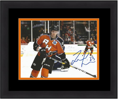 Philadelphia Flyers Taylor Leier AHL All-Star Game Autographed Hockey Framed and Matted Photo - Dynasty Sports & Framing
