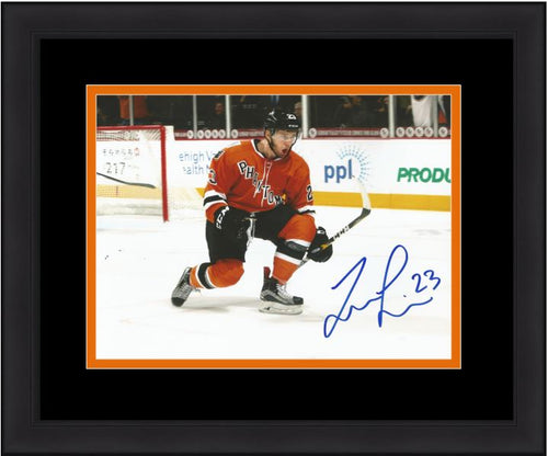 Philadelphia Flyers Taylor Leier AHL Celebration Autographed Hockey Framed and Matted Photo - Dynasty Sports & Framing