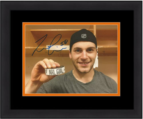 Philadelphia Flyers Taylor Leier First NHL Goal Autographed Hockey Framed and Matted Photo - Dynasty Sports & Framing