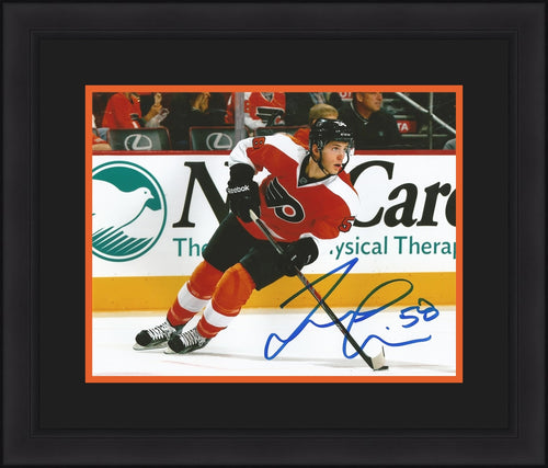 Philadelphia Flyers Taylor Leier On Ice Autographed Hockey Framed and Matted Photo - Dynasty Sports & Framing