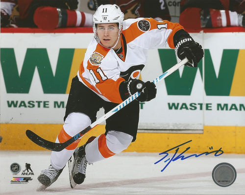 Philadelphia Flyers Travis Konecny Skating Autographed NHL Hockey Photo