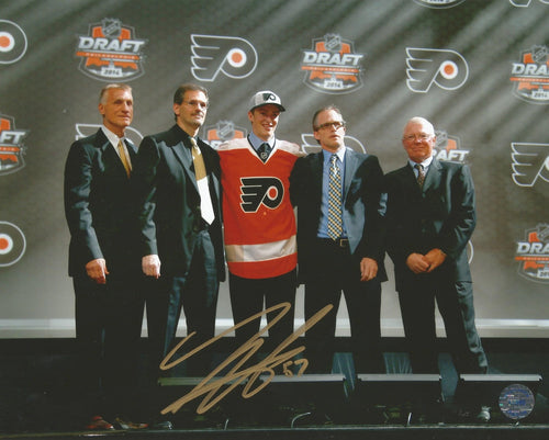 Philadelphia Flyers Travis Sanheim Autographed Draft Day Photo - Dynasty Sports & Framing