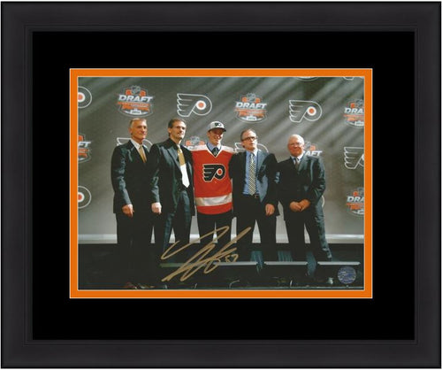 Philadelphia Flyers Travis Sanheim Draft Autographed NHL Hockey Framed and Matted Photo