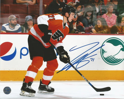 Philadelphia Flyers Travis Sanheim Autographed Skating Photo - Dynasty Sports & Framing