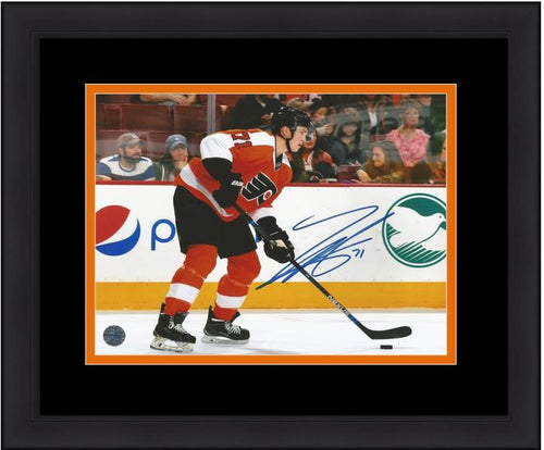 Philadelphia Flyers Travis Sanheim Skating Autographed NHL Hockey Framed and Matted Photo