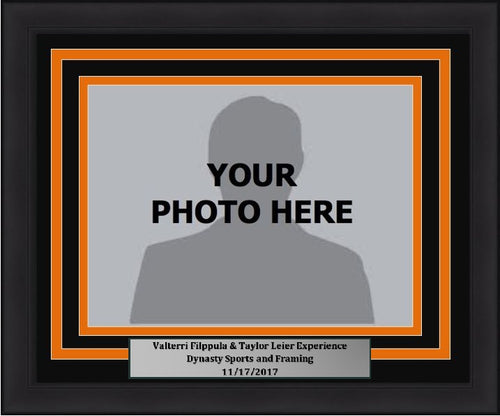 "Philadelphia Flyers Valtteri Filppula/Taylor Leier 5"" x 7"" Photo Frame Kit with Commemorative Nameplate, Autograph Signing on 11-17-17"