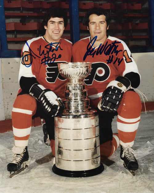 "Jim Watson & Joe Watson Stanley Cup Autographed Philadelphia Flyers 8"" x 10"" Hockey Photo - Dynasty Sports & Framing"