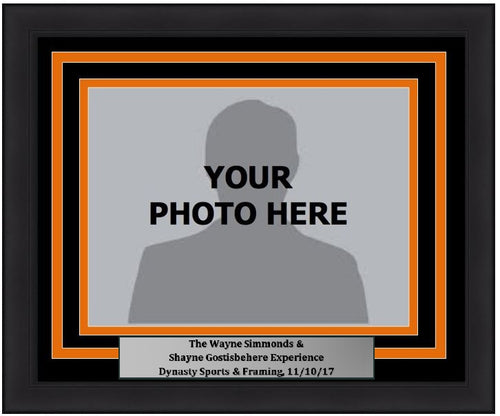 "Philadelphia Flyers Wayne/Simmonds Shayne Gostisbehere 5"" x 7"" Photo Frame Kit with Commemorative Nameplate, Autograph Signing on 11-10-17"