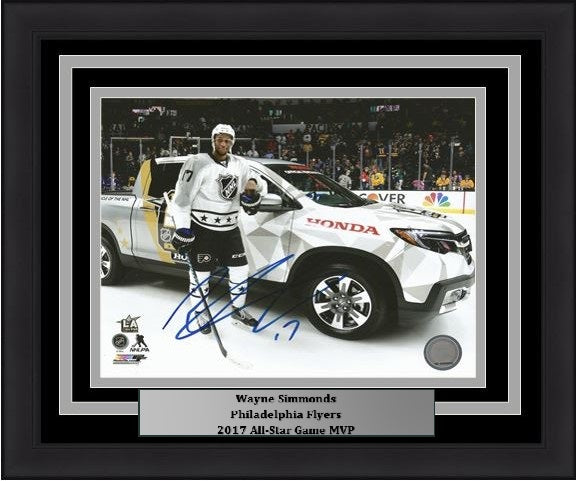 "Philadelphia Flyers Wayne Simmonds 2017 All-Star Game Car Autographed NHL Hockey 8"" x 10"" Framed and Matted Photo"