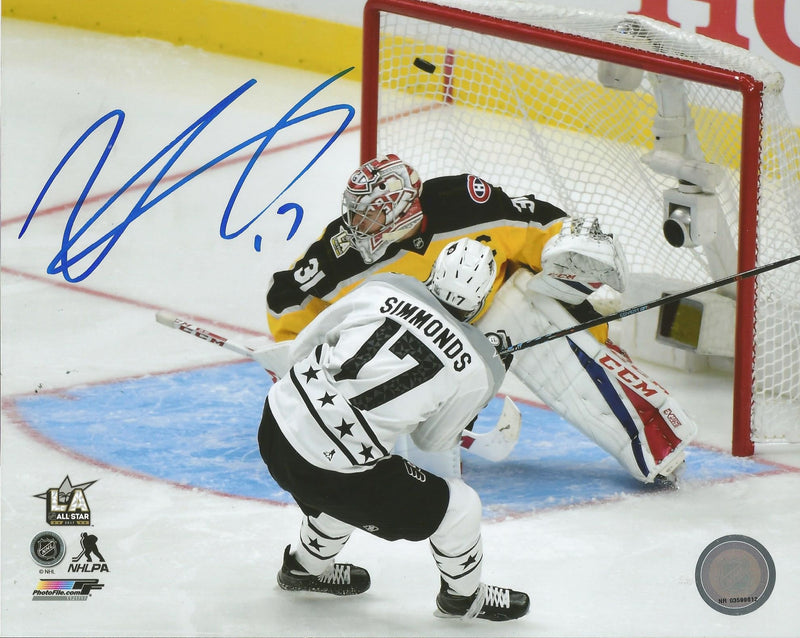 Philadelphia Flyers Wayne Simmonds 2017 All-Star Game Goal Autographed NHL Hockey Photo