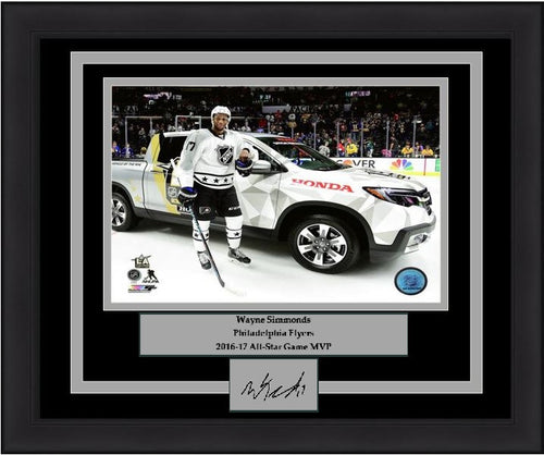 "Philadelphia Flyers Wayne Simmonds 2017 NHL All-Star Game MVP Truck 8"" x 10"" Engraved Autograph Framed & Matted Photo (Dynasty Signature Collection) - Dynasty Sports & Framing"