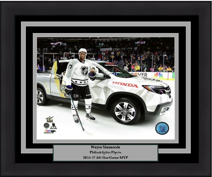 "Philadelphia Flyers Wayne Simmonds 2017 NHL All-Star Game MVP Truck 8"" x 10"" Framed & Matted Photo - Dynasty Sports & Framing"
