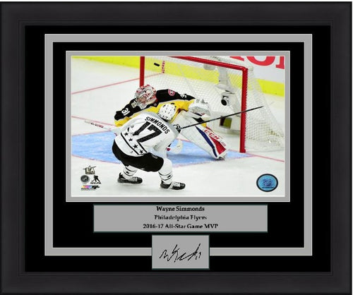 Philadelphia Flyers Wayne Simmonds 2017 NHL All-Star Game Goal Engraved Autograph Framed & Matted Photo (Dynasty Signature Collection) - Dynasty Sports & Framing