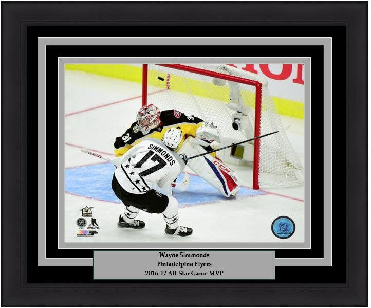 Philadelphia Flyers Wayne Simmonds 2017 NHL All-Star Game Goal Framed & Matted Photo - Dynasty Sports & Framing