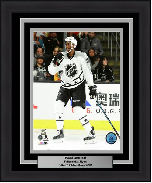"Wayne Simmonds Philadelphia Flyers 2017 NHL All-Star Game Action 11"" x 14"" Framed Hockey Photo - Dynasty Sports & Framing"