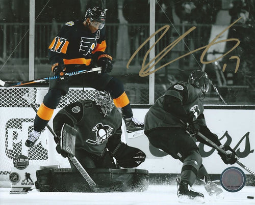 Philadelphia Flyers Wayne Simmonds Stadium Series Spotlight Autographed NHL Hockey Photo