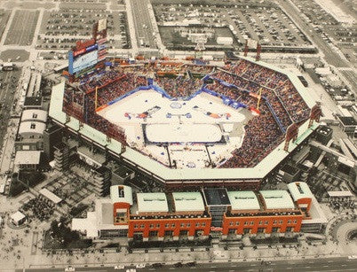 2012 NHL Philadelphia Flyers Aerial View Winter Classic Citizen's Bank Park Photo - Dynasty Sports & Framing