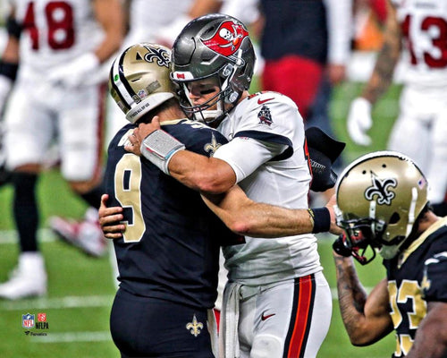 "Drew Brees and Tom Brady 8"" x 10"" Quarterback Legends Football Photo - Dynasty Sports & Framing"