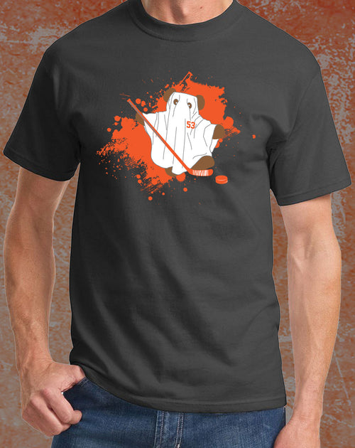 "Philadelphia Flyers NHL Hockey Shayne Gostisbehere ""Ghost Bear"" Adult T-Shirt (Dynasty Sports Exclusive) - Dynasty Sports & Framing"