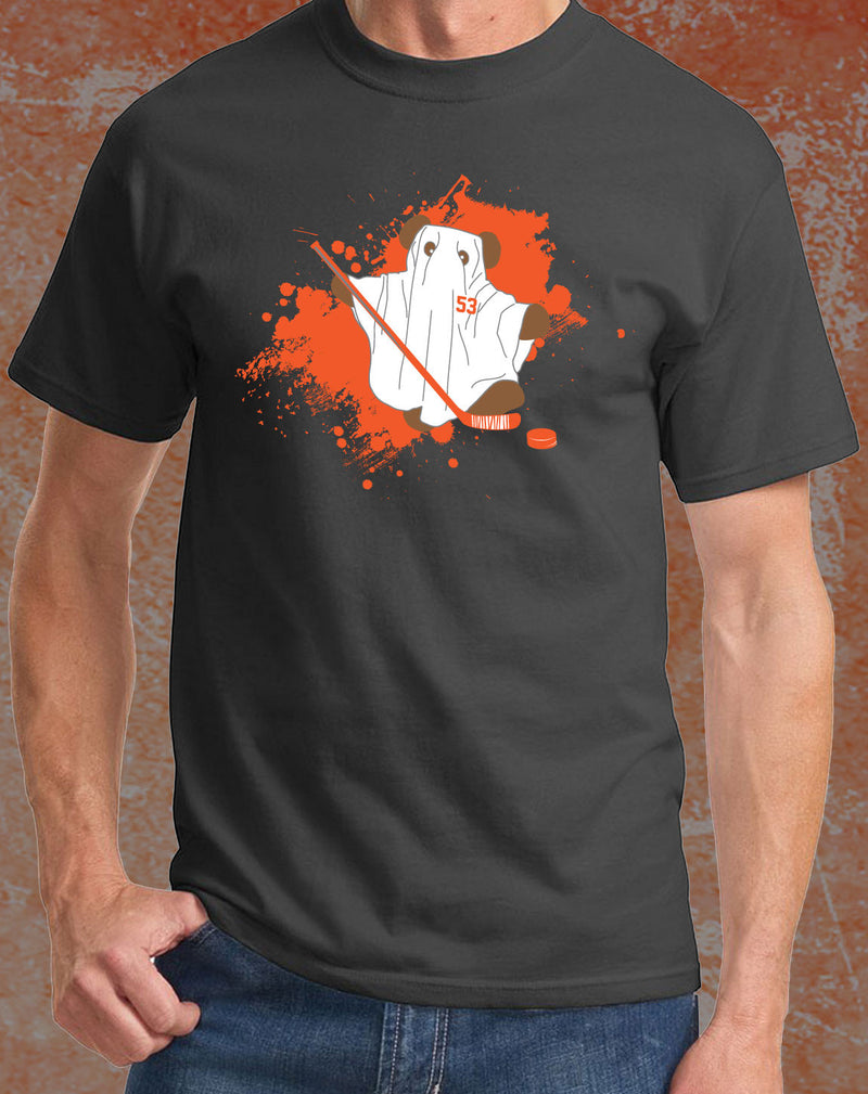 "Philadelphia Flyers NHL Hockey Shayne Gostisbehere ""Ghost Bear"" Youth T-Shirt (Dynasty Sports Exclusive) - Dynasty Sports & Framing"