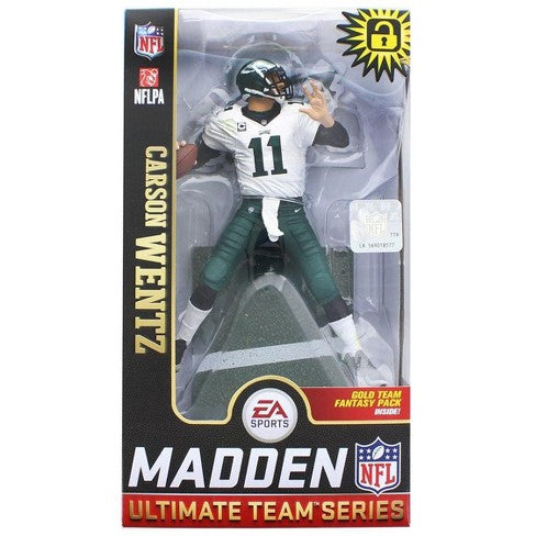Carson Wentz McFarlane Toys Madden Ultimate Team Figure - Dynasty Sports & Framing