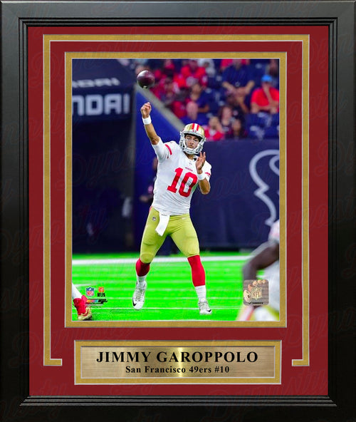 "Jimmy Garoppolo in Action San Francisco 49ers 8"" x 10"" Framed and Matted Photo - Dynasty Sports & Framing"