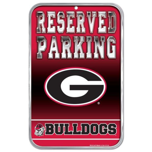 Georgia Bulldogs Parking Sign - Dynasty Sports & Framing