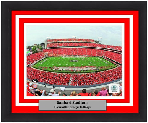 "Georgia Bulldogs Sanford Stadium NCAA College Football 8"" x 10"" Framed and Matted Photo - Dynasty Sports & Framing"
