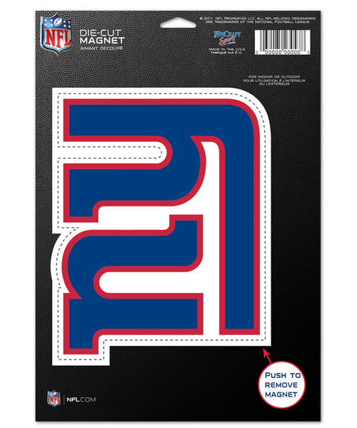 "New York Giants NFL Football 8"" Die-Cut Magnet - Dynasty Sports & Framing"
