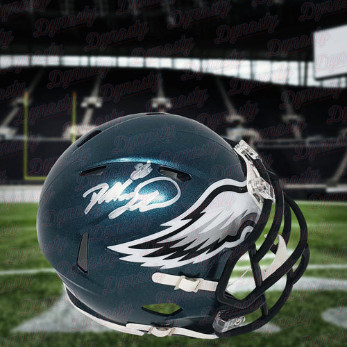 Dallas Goedert Philadelphia Eagles Autographed NFL Speed Mini-Helmet - Dynasty Sports & Framing